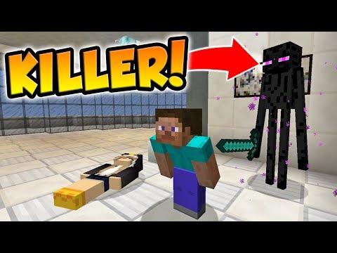 BEING THE MURDERER AS AN ENDERMAN! (Minecraft Murder Mystery)