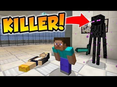 BEING THE MURDERER AS AN ENDERMAN! (Minecraft Murder Mystery)