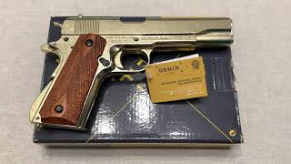 Пистолет Кольт м1911а1 золотой, Colt M1911A1 Gold, USA 1911, Denix 5312