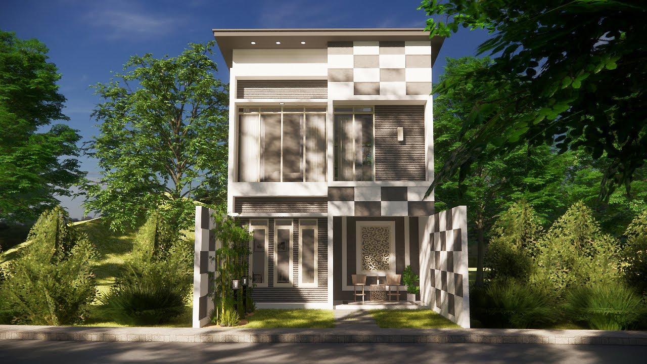 Desain rumah 6x6 dengan 3 kamar tidur - YouTube