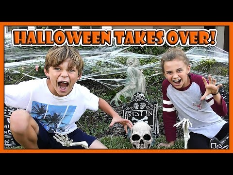 SCHOOL IS STILL SHUT DOWN! | HALLOWEEN TAKES OVER OUR HOUSE | We Are The Davises