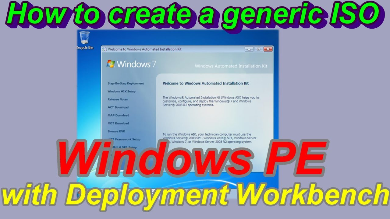 How to create ISO Windows PE from Windows ADK for Windows 10 part 1