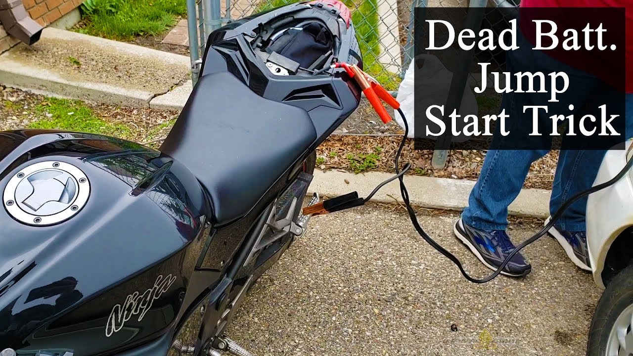 Jump Start Motorbike Trick, What a Dead Motorcycle Battery Sounds ...