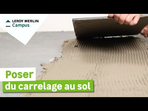 Comment poser du carrelage de sol leroy merlin youtube Pose carrelage sol
