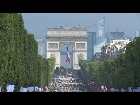 European leaders join Macron for Bastille Day parade