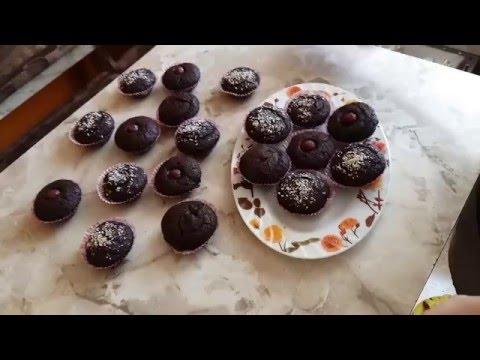 Шоколадный кекс постный