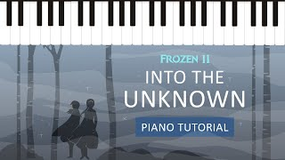 Into the Unknown from Frozen 2 - Easy Piano Tutorial - Hoffman Academy