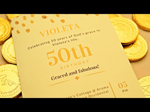 Celebrating 50 Years Of God's Grace In Violeta's Life