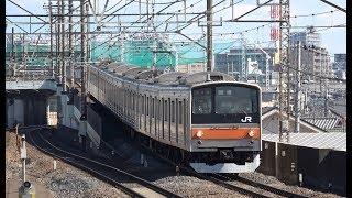 西浦和駅を通過して行く武蔵野線205系(M19編成)回送列車