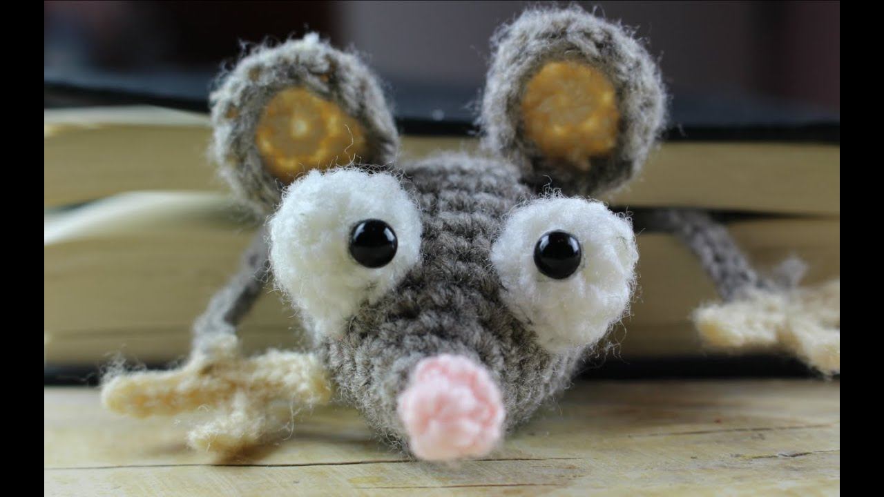 World Of Amigurumi : Mouse Bookmark Amigurumi World Of Amigurumi - YouTube