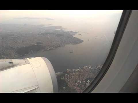 Landing at Istanbul over Bosphorus