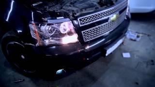 Chevrolet Tahoe - установка биксеноновых фар производства ГАЛОГЕНУ НЕТ