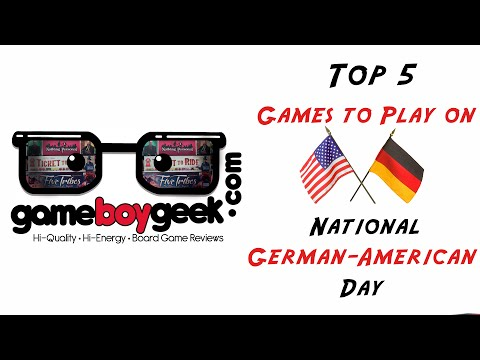 Top 5 Games to Play on National German American Day