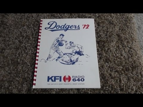 Rare 1972 Los Angeles Dodgers KFI Radio Promotional Booklet Brochure Ratings Advertising Costs