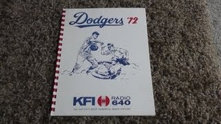 Rare 1972 Los Angeles Dodgers KFI Radio Promotional Booklet Brochure Ratings Advertising Costs