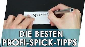 Spicken in der Schule 👍 Spicker verstecken 📚 Spickertipps Teil 1 | Spicker für die Schule