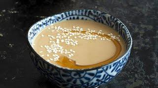 Goma Dare - Jąpanese Sesame Sauce for Shabu Shabu [2 Minute Recipe!]