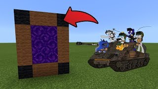 How To Make a Portal to the BM WarStuffs Dimension in MCPE (Minecraft PE)