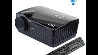 Uhappy U2- 2600LM 1080P Mini Projector with Remote Control, Support HDMI + YPbPr + TV + SV + AV-in