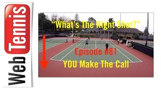Tennis Doubles Strategy - Whats The Right Shot? #81