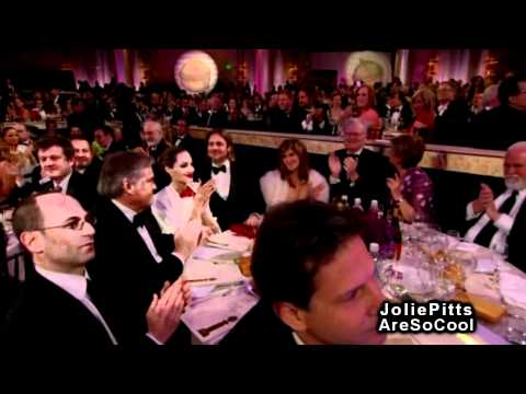 Angelina Jolie and Brad Pitt - Golden Globes 2012