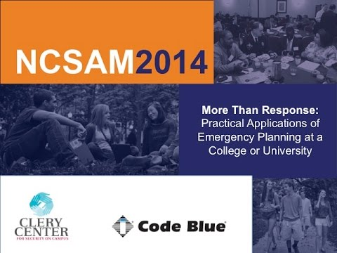 More Than Response: Practical Applications of Emergency Planning at a College or University
