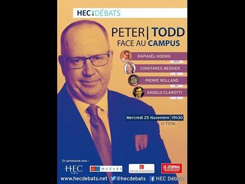 HEC Débats Reçoit Peter Todd - Conférence