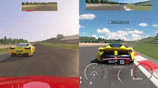 Racing against strongest A.I. comparison // GT Sport vs. Assetto Corsa - PS4