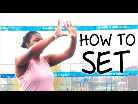 How To SET A Volleyball For BEGINNERS!