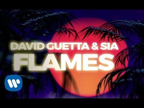 David Guetta Sia Flames Lyric Video Youtube