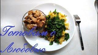 Жареная картошка на сале. Очень ароматная картошка получается. Вкуснее, чем на растительном масле