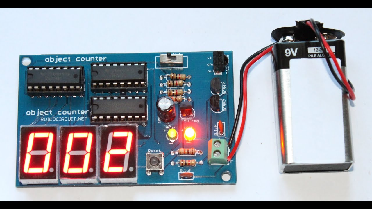 3 Digit Digital Counter Circuit - Circuit Diagram Symbols •