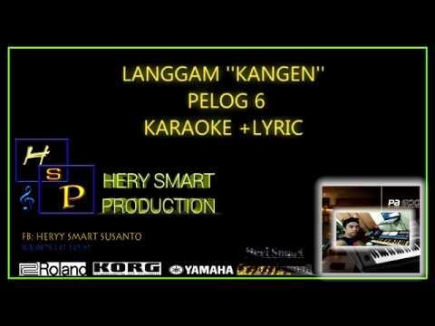 LANGGAM KANGEN// Pelog 6 // Karaoke + lyric  KORG PA700
