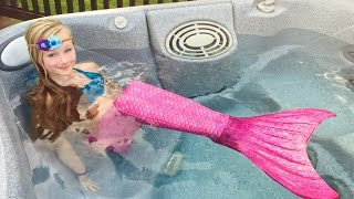 The day Princess Ella become a real mermaid. She has to be rescued by Batman. W/ blind bags