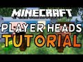 How To Get Custom Player Heads In Minecraft 1.13! (2019)