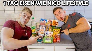 Ich esse 1 Tag lang wie Nico Lifestyle (mit Wettessen)