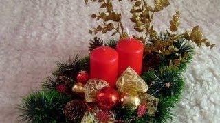 видео подсвечники новогодние