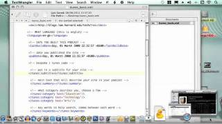Create XML file for iTunes Podcast