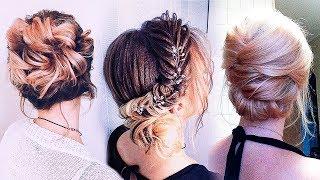 БЫСТРЫЕ и МОДНЫЕ ПРИЧЕСКИ на короткие волосы до плеч. 5 Причесок на ВЫПУСКНОЙ💛  TOP 5 Hairstyles