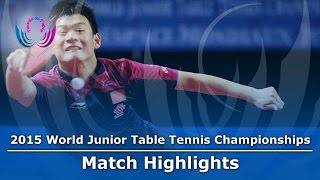 WJTTC 2015 Highlights: XUE Fei vs LIU Dingshuo (Final)