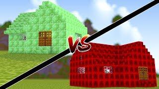 Minecraft: CASA DE ESMERALDA VS CASA DE REDSTONE !!