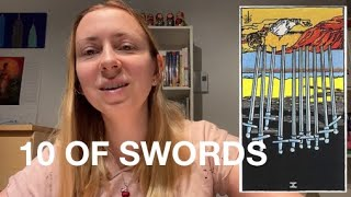 CONNECTING WITH THE TAROT - 10 OF SWORDS