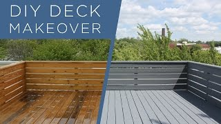 DIY Deck Makeover | Using BEHR Deckover