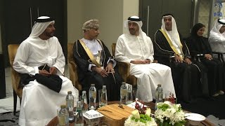 سرور بن محمد وعبدالله بن زايد يحضران حفل استقبال سفارة سلطنة عمان بمناسبة يومها الوطني.