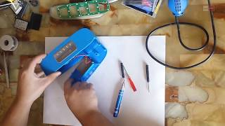 How to disassembly bluetooth speaker and  battery replace repair