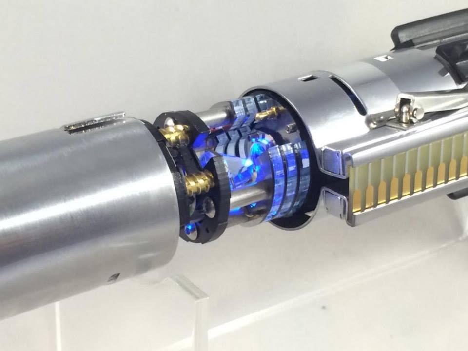 Graflex ESB Luke Skywalker Custom Lightsaber Crystal Focus 7 White FoC With  DIY Crystal Chamber   YouTube