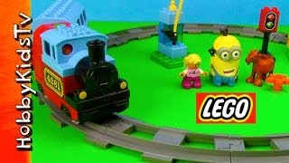 Lego Train Set Minion Blast Box Open Build And Play (10507) By Hobbykidstv