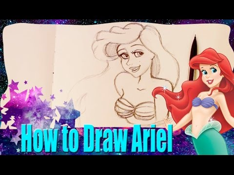 How to Draw ARIEL from Disney's The Little Mermaid - @DramaticParrot