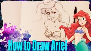 How to Draw ARIEL from Disney