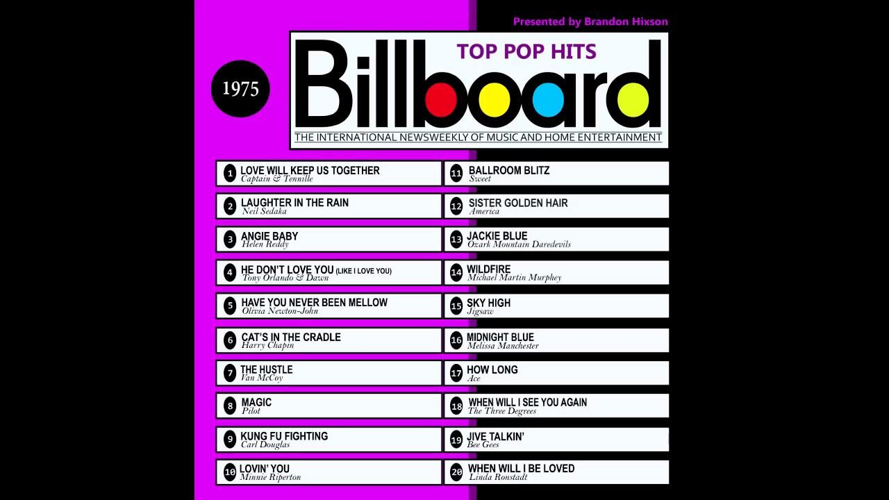 Billboard top pop hits 1975 youtube